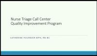 Nurse Triage Call Center Quality Improvement Program