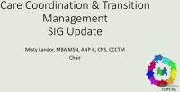 Care Coordination and Transition Management (CCTM) SIG