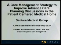 A Care Management Strategy to Improve Advance Care Planning Discussions in the Patient-Centered Medical Home