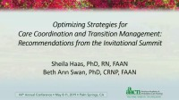 Optimizing Strategies for Care Coordination and Transition Management: Recommendations from the Invitational Summit