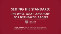 Setting the Standard: The Who, What, and How of Telehealth