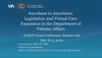 Anywhere to Anywhere: Legislation and Virtual Care Expansion in the Department of Veterans Affairs