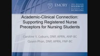 Academic-Clinical Connection: Supporting Registered Nurse Preceptors for Nursing Students