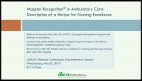 Magnet® Recognition in Ambulatory Care: Description of a Recipe for Nursing Excellence