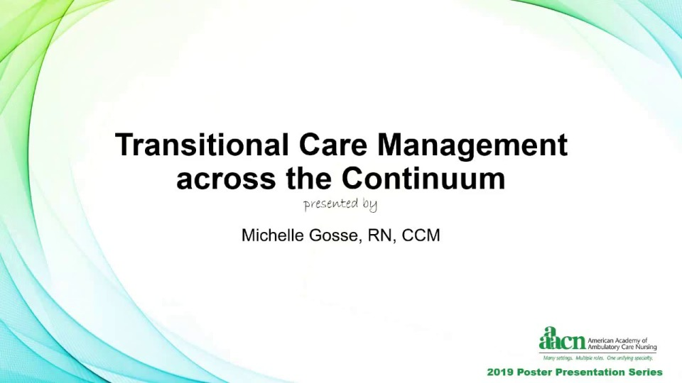 Transitional Care Management across the Continuum