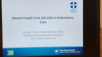 Mental Health First Aid in Ambulatory Care