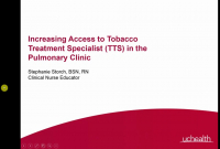 Increasing Access to Tobacco Treatment Specialist (TTS) in the Pulmonary Outpatient Setting