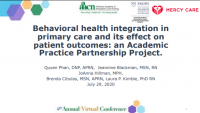 Behavioral Health Integration in Primary Care and Its Effect on Patient Outcomes: An Academic Practice Partnership Project