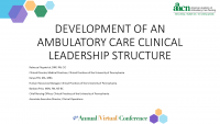 Development of an Ambulatory Care Clinical Leadership Structure
