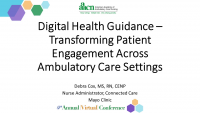 Digital Health Guidance: Transforming Patient Engagement Across Ambulatory Care Settings