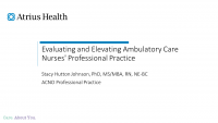 Evaluating and Elevating Ambulatory Care Nurses' Professional Practice