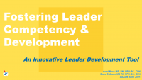 Fostering Leader Competency and Development Using an Innovative Leader Development Tool
