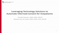 Leveraging Technology Solutions to Automate Informed Consent for Outpatients