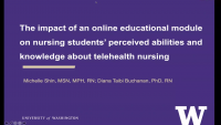 Evaluation of an Online Educational Module on Nursing Students' Perceived Abilities and Knowledge about Telehealth Nursing