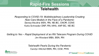 Telehealth Rapid Fire Sessions
