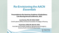 AACN Essentials: Re-Envisioning Nursing Education for Practice /// An Invitation to Rest and Restore