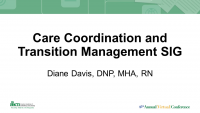 Care Coordination and Transition Management SIG icon