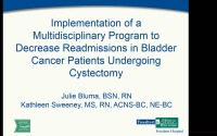 Implementation of an Interprofessional Program to Decrease Readmissions in Bladder Cancer Patients Undergoing Cystectomy