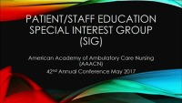 Patient/Staff Education SIG