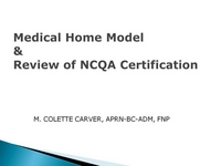 Medical Home Model and Review of the NCQA Certification icon