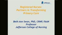 Registered Nurses: Partners in Transforming Primary Care
