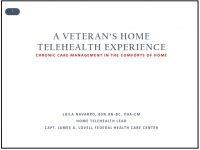 A Veteran's Home Telehealth Experience: Chronic Care Management in the Comforts of Home