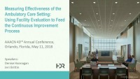 Measuring Effectiveness of the Ambulatory Care Setting: Using Facility Evaluation to Feed the Continuous Improvement Process