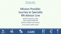 Mission Possible: Journey to RN Advisor Line
