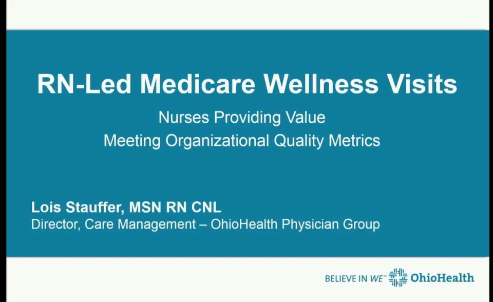 Rn Led Medicare Wellness Visits Nurses Providing Value