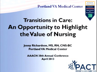Transitions in Care: An Opportunity to Highlight the Value of Nursing