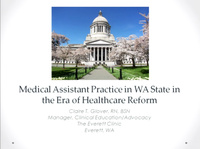 Medical Assistant Practice in WA State in the Era of Health Care Reform