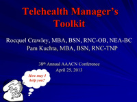 Telehealth Manager's Toolkit