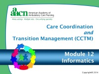 Module 12: Care Coordination and Transition Management: Informatics Nursing Practice