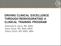 Towards Clinical Excellence: Reinvigoration of a Clinical Training Program