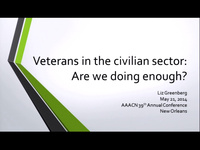 Veterans in the Civilian Sector: Are We Doing Enough?
