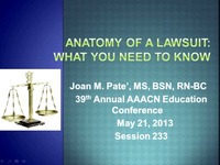 Special In-Brief Session: Anatomy of a Lawsuit: What You Should Know