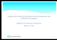 Organization Medical Assistant Role Development and Utilization Strategies