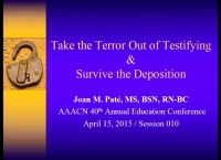 Take the Terror Out of Testifying & Survive the Deposition icon