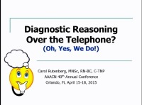 Diagnostic Reasoning Over the Telephone? Oh, Yes, We Do!