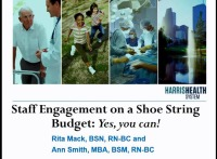 Special In-Brief Sessions: Staff Engagement on a Shoe String Budget: Yes, You Can!; The Decisional Involvement Scale: The Actual Involvement of Ambulatory Care Nurses in Decisions about Practice and Their Preference for Involvement
