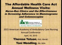 The Affordable Health Care Act Annual Wellness Visits: Nurse-Run Clinics and the Effectiveness in Screening Adherence to Mammograms and Colonoscopies