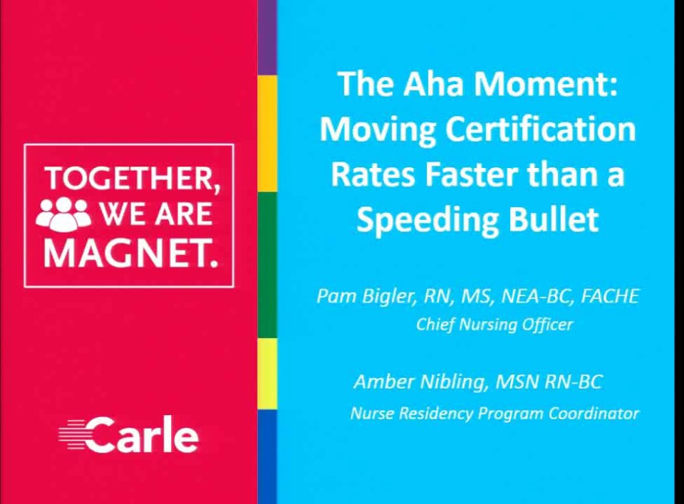The Aha Moment Moving Certification Rates Faster Than A Speeding