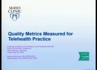 Quality Metrics Measured for Telehealth Practice