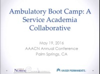 Ambulatory Care Boot Camp: A Service-Academia Collaborative