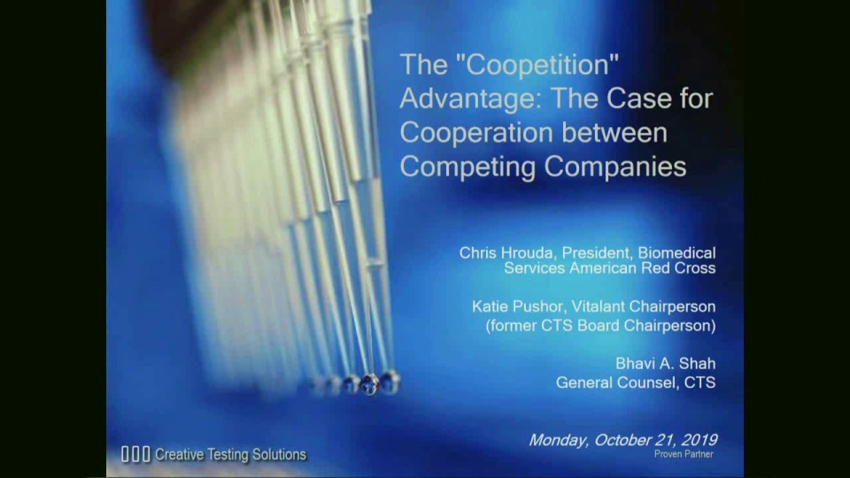 "MN1-05: The ""Coopetition"" Advantage: The Case for Cooperation between Competing Companies"