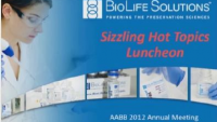 SN3-21: Cellular Therapies (CT) Sizzling Topics Luncheon -Create A Spark- Discussion on Current Cellular Therapy Topics