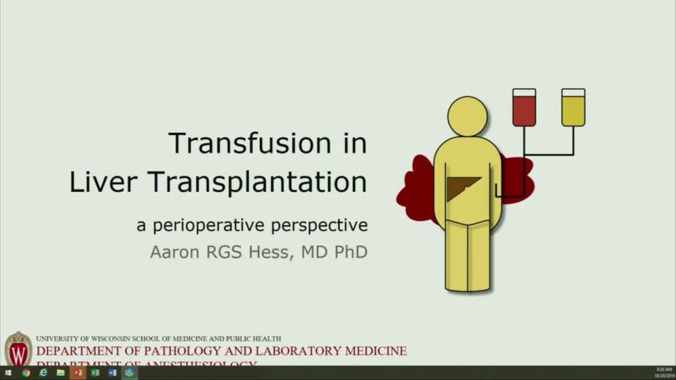 SN1-07: Liver Transplantation - Blood Product Utilization and Perioperative Therapies