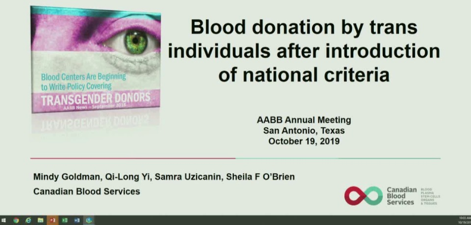 ST2-16: Oral Abstract Session:Donor Collection Issues