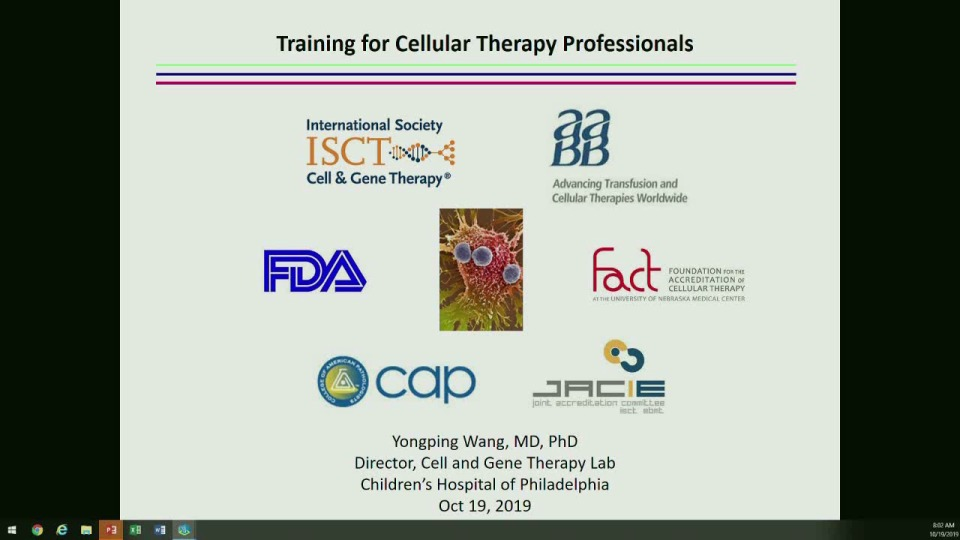 ST1-08: Developing a Training Program for Future Cellular Therapy Professionals
