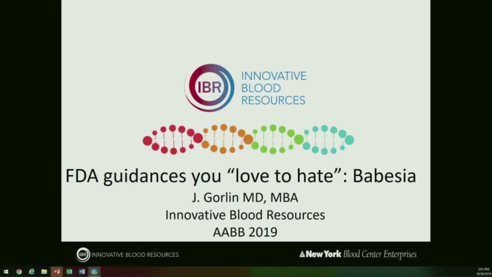 SN4-28: FDA RecommendationsYou Love to Hate:An Update on Babesia Testing and Bacterial Risk Control Strategies